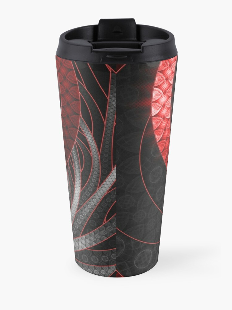 Alternate view of Corded Crimson Scales in the Eye of the Vampire Travel Mug