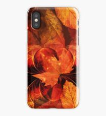Apoptosis: The Fractal Geometry of Falling Leaves iPhone Case
