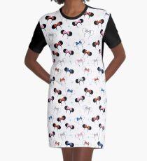 Magical Polka Dot Ears Graphic T-Shirt Dress