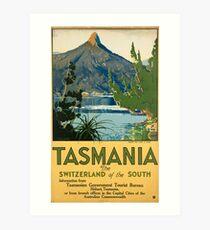 Vintage poster -Tasmania Art Print