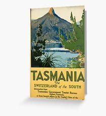 Vintage poster -Tasmania Greeting Card