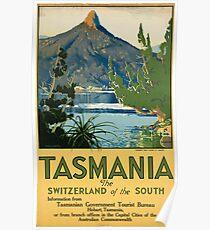 Vintage poster -Tasmania Poster