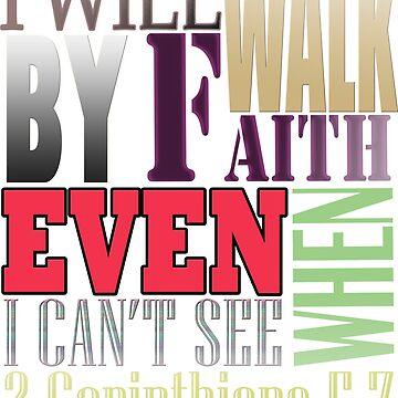 Bible Verse 2  Corinthians 5:7  by Roland1980
