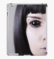 Scary black eyed ghost with pale skin  iPad Case/Skin