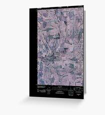 USGS TOPO Map Idaho ID Harvard 20110208 TM Inverted Greeting Card