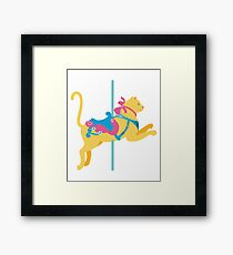 Colorful Carousel Animal Cat Framed Print