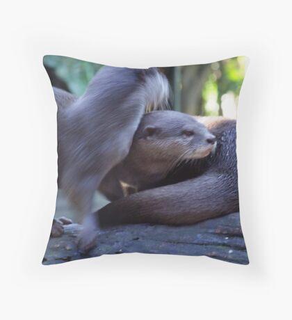 Sea Otters Throw Pillow