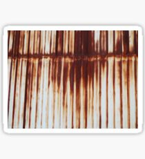 Rusted Corrugated Iron Sticker