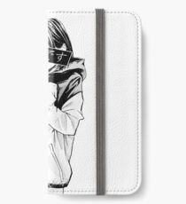 COLD (Black and White) - Sad Japanese Aesthetic iPhone Wallet/Case/Skin