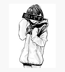 Lámina fotográfica FRÍO (blanco y negro) - Triste japonés estético