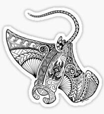 Tribal - Polynesian influenced Manta Ray Sticker