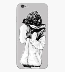 COLD (Black and White) - Sad Japanese Aesthetic iPhone Case