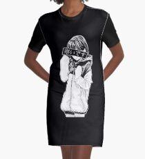 KALT (schwarz und weiß) - traurig japanische Ästhetik T-Shirt Kleid