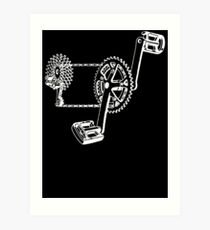 Crank, Chain and Cogs Art Print