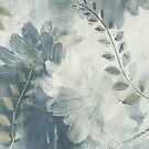 Ragusa Floral - Graphite Mist by Lynn Nafey