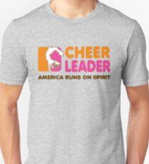 Cheerleading T-Shirt Cheerleader America Runs On Spirit  Unisex T-Shirt