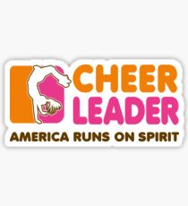 Cheerleading T-Shirt Cheerleader America Runs On Spirit  Sticker