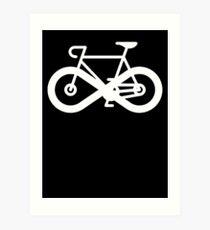 Infinity Bicycle Art Print