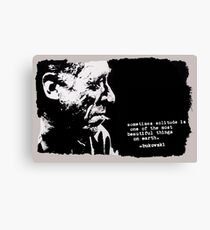 Charles BUKOWSKI - solitude QUOTE Canvas Print