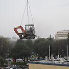 Excavator on Tower Crane by EvilGeniusBaby