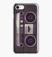 80s Retro Boombox iPhone Case/Skin