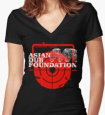 Community Music Asian Dub Foundation Women's Fitted V-Neck T-Shirt