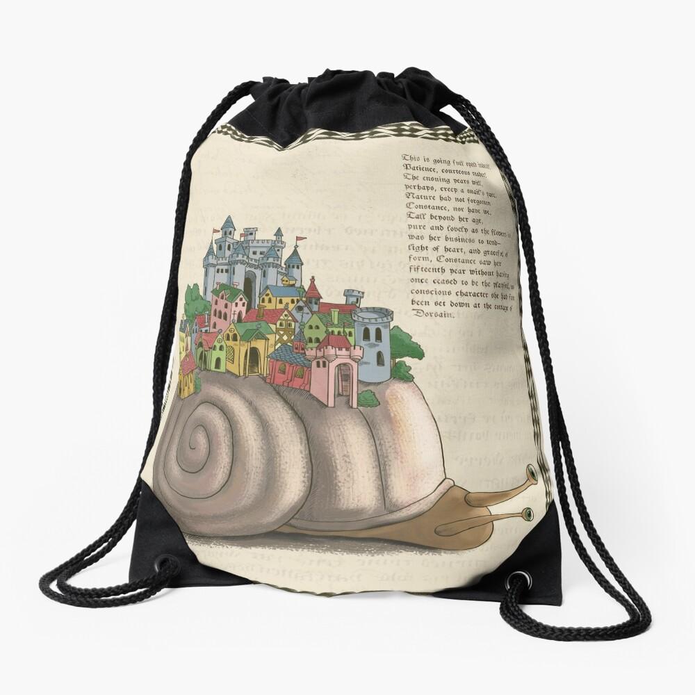Medieval Snail Drawstring Bag
