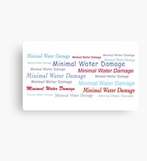 Minimal Water Damage  Canvas Print