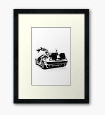 Delorean Vector Framed Print