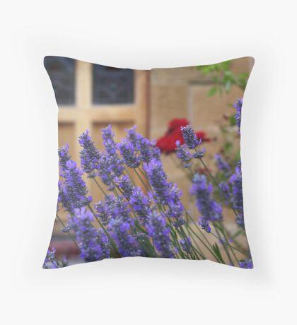 lavender gardens Throw Pillow
