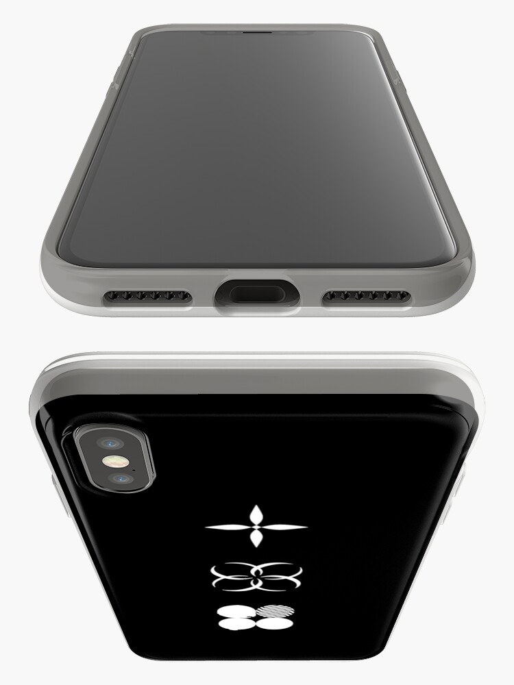 Vista alternativa de Funda y vinilo para iPhone BTS - Logotipos de alas - Blanco