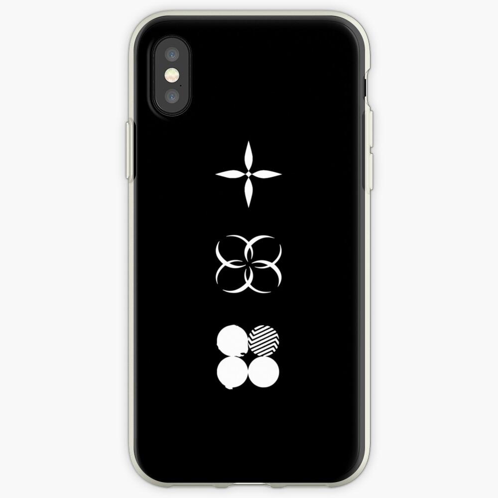 BTS - Logotipos de alas - Blanco Funda y vinilo para iPhone