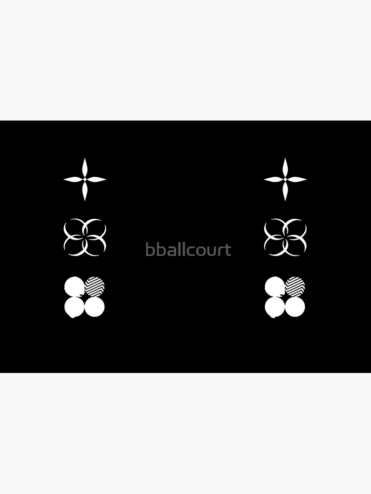 BTS - Logotipos de alas - Blanco de bballcourt