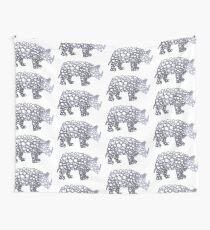 Half-tone Rhino Wall Tapestry