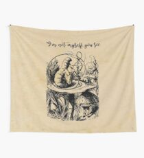 Not Myself - Lewis Carroll - Alice in Wonderland Wall Tapestry