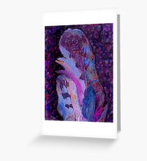 Feather Pixels Greeting Card
