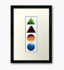 forest mountain desert ocean Framed Print