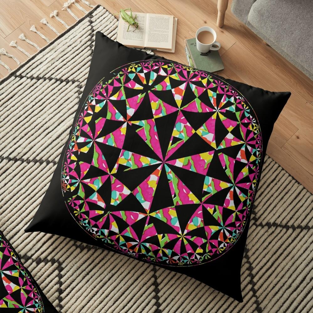 Colour Wheel2 Floor Pillow
