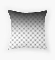 White- black Ombre 2 Throw Pillow