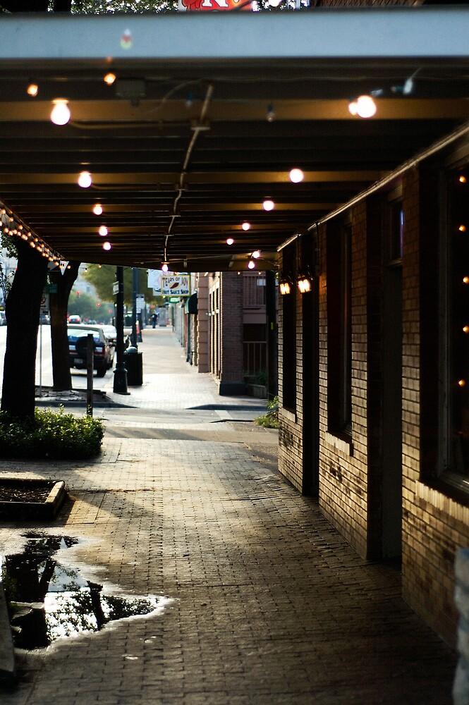 Austin 6th street, Sunset lighting by LeGreg