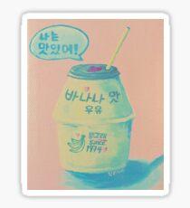 Korean Banana Milk Painting Sticker