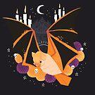 Familiar - Orange Painted Bat by straungewunder