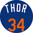 """Noah Syndergaard """"Thor"""" by fallouthartley"""