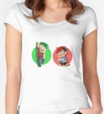Markiplier & Jack Septic Eye Merchandise Women's Fitted Scoop T-Shirt