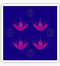 Luxury tulips wellness pink blue Sticker