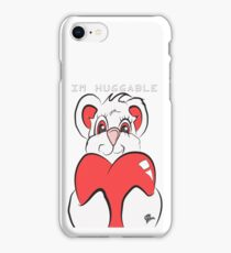 i'M HUGGABLE WHITE AND RED TEDDY BEAR LOVE iPhone Case/Skin