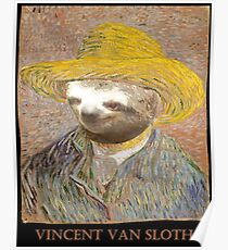 Vincent Van Sloth - Lost Art Poster