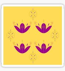 Ornaments  yellow purple Sticker
