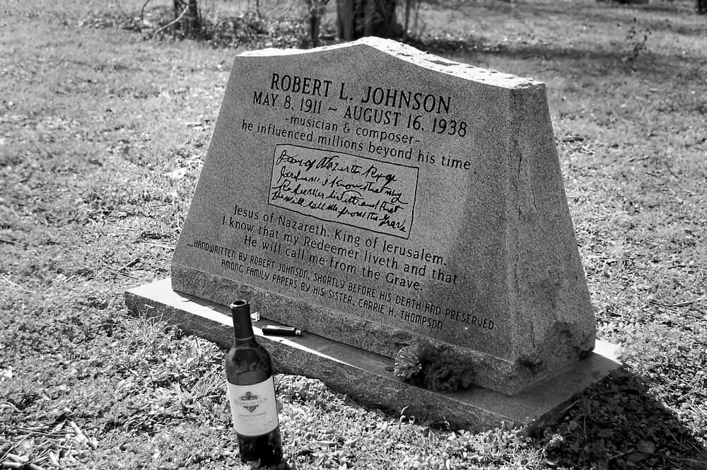 Robert Johnson's Grave by Ed Silvera
