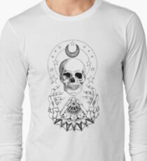 Power Skull Mandala Long Sleeve T-Shirt